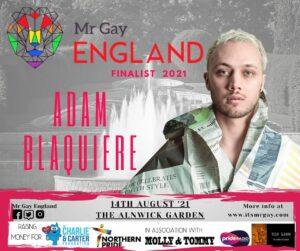 Mr Gay England Finalist,  Adam