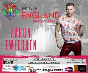 Mr Gay England Finalist, Aaron